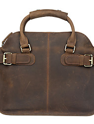 Unisex Cowhide Casual / Outdoor / Office & Career / Shopping Shoulder Bag / Casual Vintage / Laptop Bag - Brown