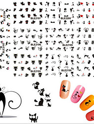 11pcs/set  Cute Cat Water Transfer Stickers