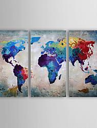 Ручная роспись Абстракция Горизонтальная Панорамный,Modern 3 панели Холст Hang-роспись маслом For Украшение дома
