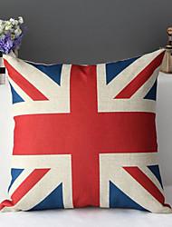 """43cm*43cm 17""""*17"""" Union Jack Union Flag Cotton / Linen Cotton&linen Pillow Cover / Throw Pillow With No Insert"""