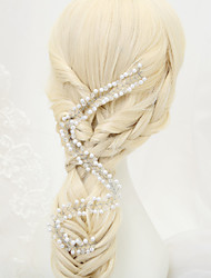 Women's / Flower Girl's Crystal / Alloy / Imitation Pearl Headpiece-Wedding / Special Occasion Head Chain 1 Piece