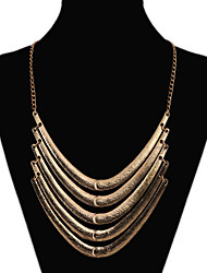 MPL Europe and the United States with a multi layered Retro Metal Necklace