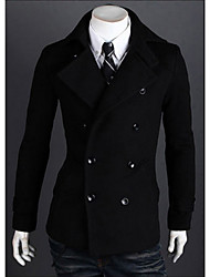 first brand Men's Stand Coats & Jackets , Cotton Blend Long Sleeve Casual Pocket Winter