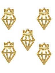 10pcs Crowned Diamond 3D Alloy Charm Nail Art Decoration 3mm x8mm