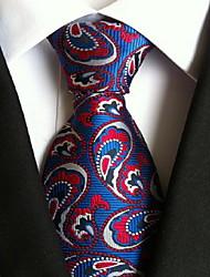 Men Wedding Cocktail Necktie At Work Blue Muticolors Tie