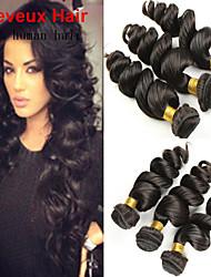 3Bundles cheveux vierges couleur d'onde 8-26inch brésilien lâche # 1b non transformés cheveux de vierge de première tisse vente chaude.