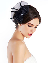 Women's Feather / Rhinestone / Net Headpiece-Special Occasion Fascinators As the Picture