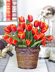 Polyester Tulipes Fleurs artificielles
