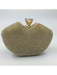 Women Minaudiere Evening Bag - Gold / Silver / Black