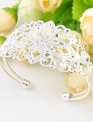 Bracelet Bangles Silver Plated Oval Wedding / Party / Daily / Casual / Sports Jewelry Gift Silver,1pc