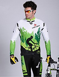 KEIYUEM® Cycling Jersey with Tights Men's Long Sleeve BikeWaterproof / Breathable / Quick Dry / Windproof / Insulated / Rain-Proof / Dust