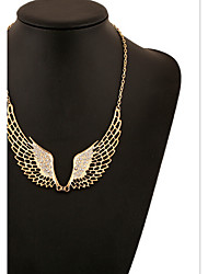 MPL Are all-match hollow diamond necklace sweet angel wings