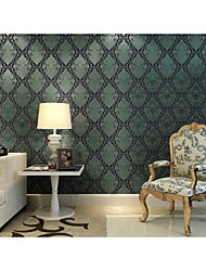 Arttop®Titian Floral Wallpaper Classical Wall Covering , Non-woven Paper Phantom Soundproof Non-Woven 3D Wallpaper