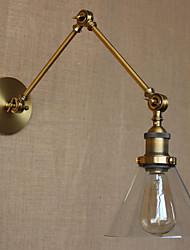 AC 100-240 40 E26/E27 Rústico/ Campestre Bronce Característica for Bombilla Incluida,Luz Ambiente Lámpara con brazo flexible Luz de pared
