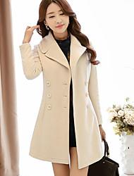 Women's Autumn And Winter Long New Korean Girls Slim Woolen Coat