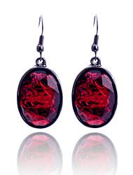 European Style  Resin Amber Oval Drop Earring