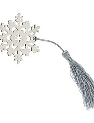 Silver-Metal Snowflake Bookmark with Elegant Silk Tassel Party Souvenir