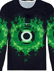 Informeel / Opdruk Rond - MEN - T-shirts ( Katoenmengeling )met Lange Mouw