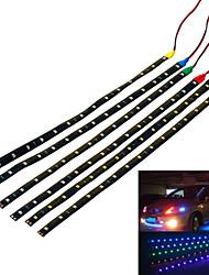 Jiawen 3.7w 300lm 15-3528 SMD LED водонепроницаемый автомобиля декоративные лампы полосы (4 шт)