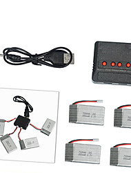 C Technic Remote Control Toy Battery 703048 850mAh 3.7V 4 in 1 Charger and 4 Polymer Lithium Batteries