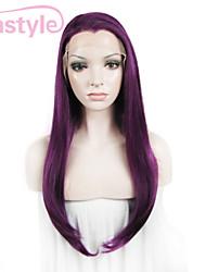 """imstyle 24 """"фиолетовый синтетический шелковистая прямая кружева передние парики-N2"""