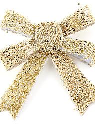 Natale d'oro farfalla 3pcs legame di arco