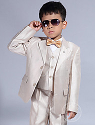 Champagne Polyester Ring Bearer Suit - 5 Pieces
