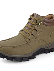 Men's Shoes Outdoor Leather Boots Brown / Khaki