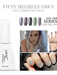 Azure Beauty 50°Grey Series Nail Gel Polish 12ml 5Pcs Classic Color UV Gel Soak Off Long Lasting Acrylic Manicure