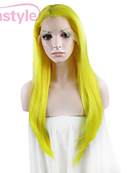 """IMSTYLE 24"""" Yellow Synthetic  Silky Straight Lace Front Wigs-N2"""