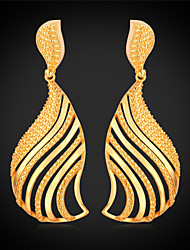 Vogue  New Cute Fashion Drop Earring Jewelry 18K Real Gold Platinum Plated for Women High Quality