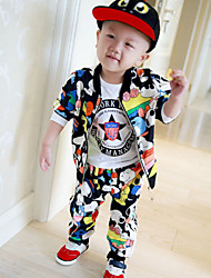 Boy's  Velvet Clothing Set  , Spring / Fall  Printing Baseball  Leisure Sport Suit