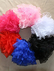 Slips Ball Gown Slip Short-Length 4 Tulle TUTU White / Black / Red / Blue / Pink