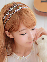 Women Zircon Flower Crystal Leaf Hair Band Hair Rope Hair Accessories