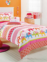 7Piece Printed Duvet Cover Set - Super Soft Classic Print High Quality 100%  Premium Cotton  2 Pillow Core Bedding
