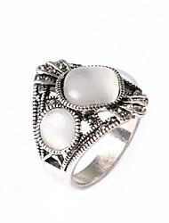 Кольца Мода Для вечеринок Бижутерия Серебрянное покрытие Женский Массивные кольца 1шт,Стандартный размер Золотой