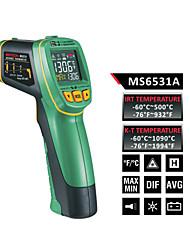 MASTECH ms6531a цветной экран Инфракрасный термометр (-60 ℃ до 500 ℃) датчик температуры типа К может быть подключен