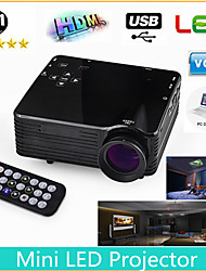 Mini HD Home Super Bright LED Technology Projector , PC Laptop VGA USB SD HDMI