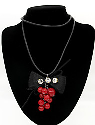 Women's Fashion Big Bow Sweater Necklaces