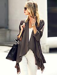 Women's Solid Black / Brown Shirt , Off Shoulder Long Sleeve
