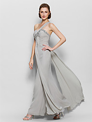 Lanting Bride® A-line Mother of the Bride Dress Ankle-length Sleeveless Chiffon with Beading / Criss Cross