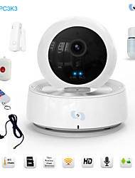 Snov® PTZ Survillance WIFI IP IR Camera, Baby Monitor P2P HD WIFI Camera with 5pcs Wirless Alarm Sensors SV-VPC3K3
