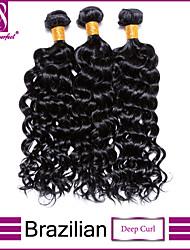 Brazilian Virgin Hair Deep Curl Hair Unprocessed Human Hair Brazilian Deep Curl Virgin Hair