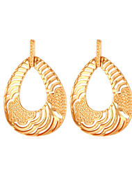 Vogue New Hollow Dangle Earrings 18K Real Gold / Platinum Plated Jewelry for Women High Quality
