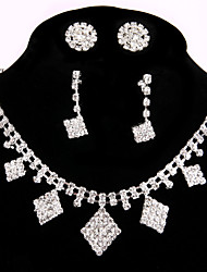 2 Pairs of Rhinestone Earrings with Wedding Earrings Necklace Jewelry Sets Bijouterie Ring Bracelet Gifts