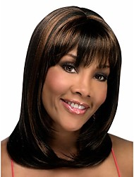 Secondary Color Syntheic Wig   Extensions  Women Lady Bang Of Bob Wigs