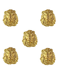 10pcs Lion Face 3D Charm Alloy 7mm x9mm Nail Art Decoration
