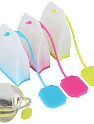Bag Style Silicone Tea Strainer Herbal Spice Infuser Filter Diffuser(Random Color)