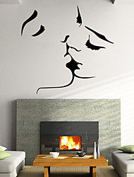 Beautiful PVC Personalized Romantic Kiss Wall Stickers