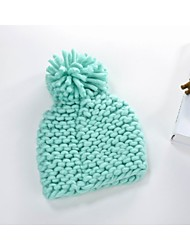 Winter Women Solid Color Acrylic Beanies Hats  LD00114